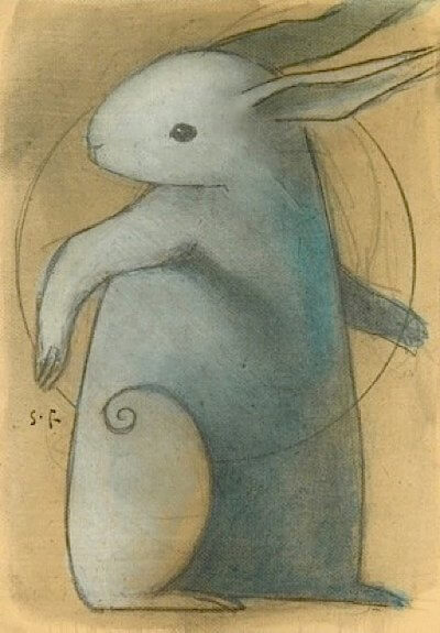 Blue Rabbit by Seth Fitts at Deviant Art