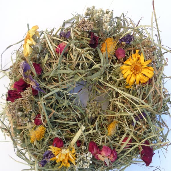 Decorated Hay & Willow Wreaths